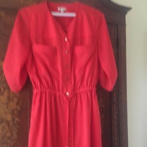 Shoshanna Coral Summer Dress